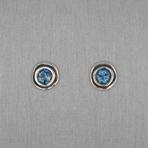 Patricia Locke Jewelry: On The Dot Earrings in Denim Blue