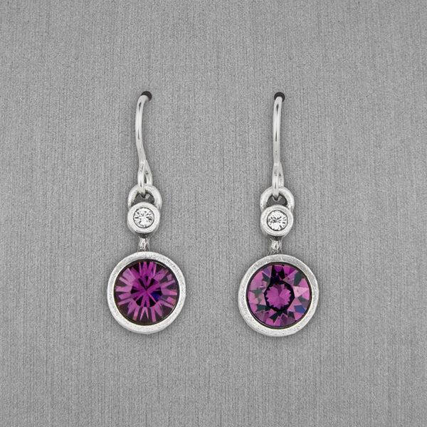 Patricia Locke Jewelry: Drip Drop Earrings in Amethyst