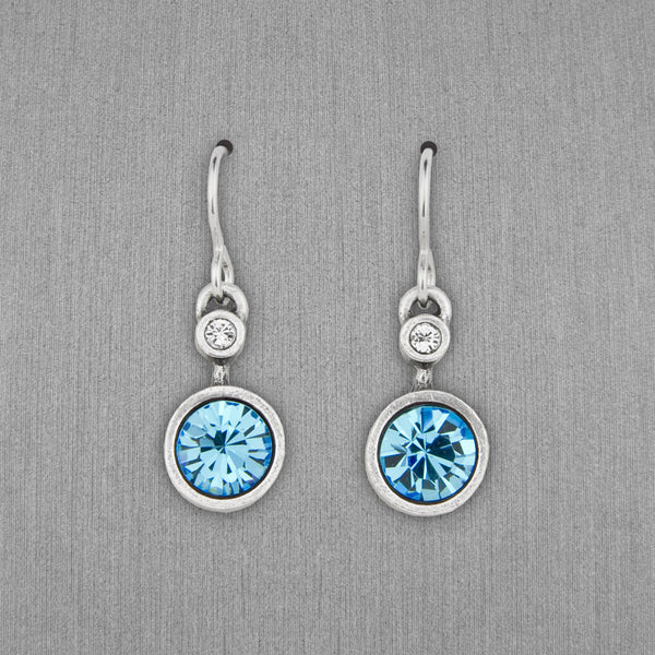 Patricia Locke Jewelry: Drip Drop Earrings in Aquamarine
