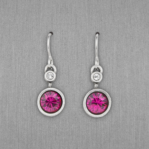Patricia Locke Jewelry: Drip Drop Earrings in Fuchsia
