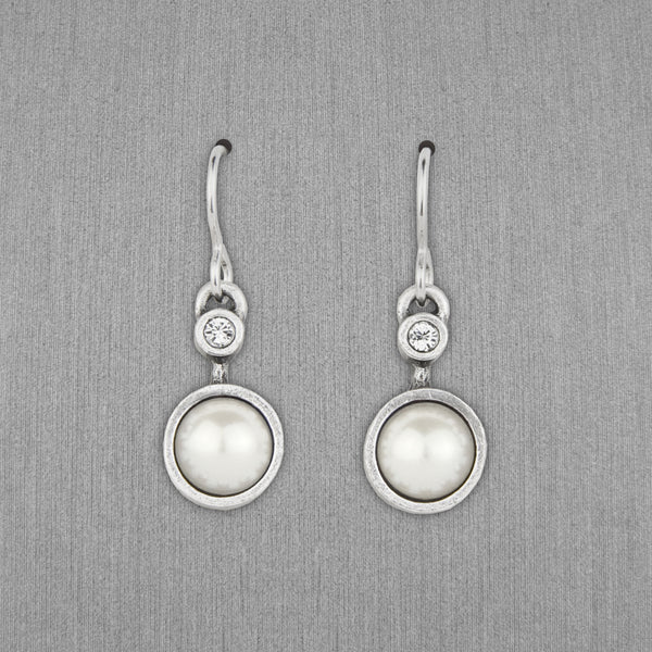 Patricia Locke Jewelry: Drip Drop Earrings in Pearl