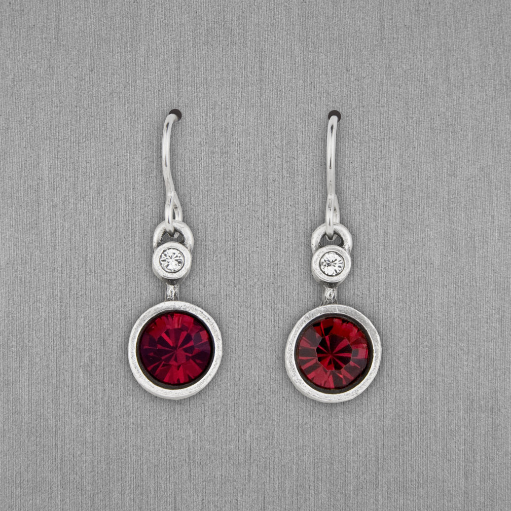 Patricia Locke Jewelry: Drip Drop Earrings in Ruby