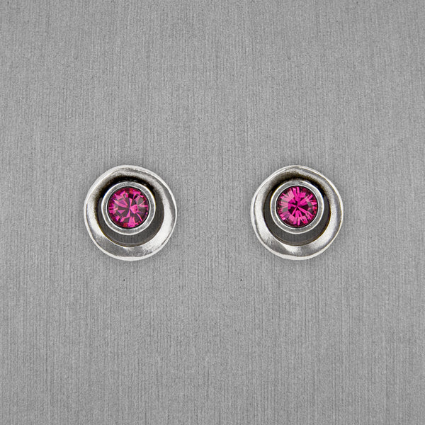 Patricia Locke Jewelry: Eye Spy Post Earrings in Fuchsia