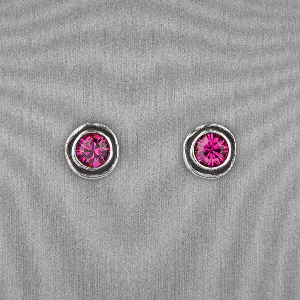 Patricia Locke Jewelry: On The Dot Earrings in Fuchsia