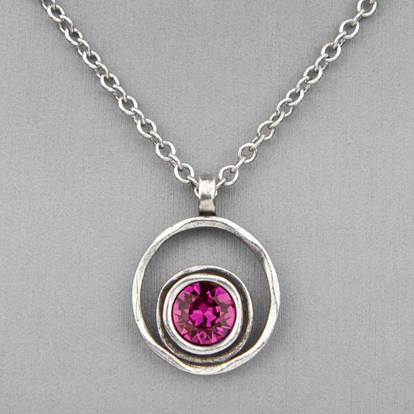 Patricia Locke Jewelry: Serenity Necklace in Fuchsia