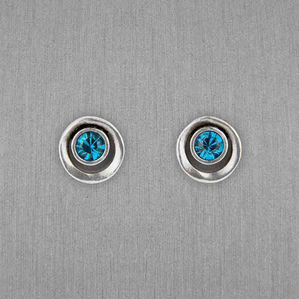 Patricia Locke Jewelry: Eye Spy Post Earrings in Indicolite