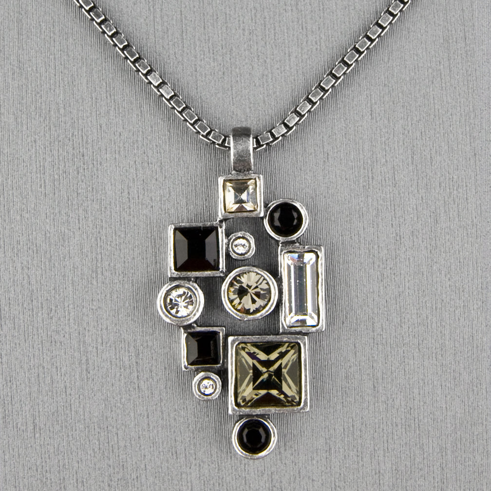 Patricia Locke Jewelry: Montage Necklace in Black & White