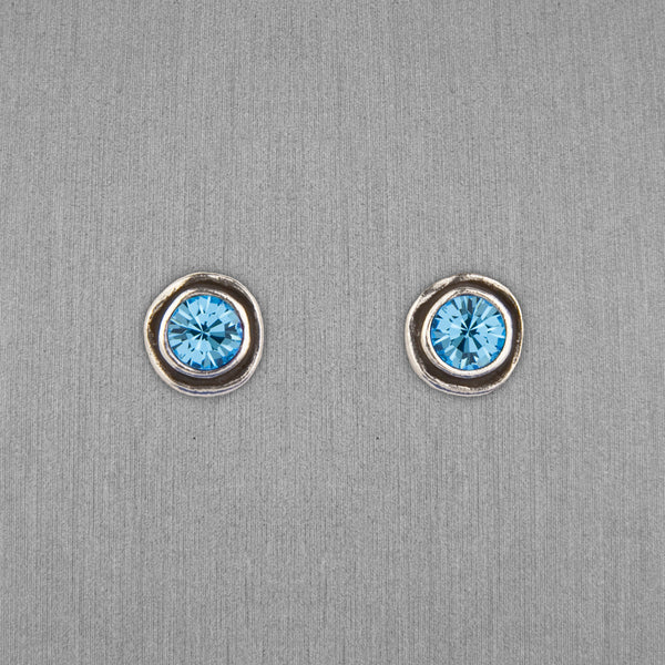 Patricia Locke Jewelry: On The Dot Earrings in Aquamarine