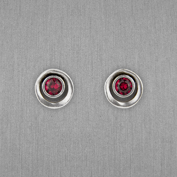 Patricia Locke Jewelry: Eye Spy Earrings in Ruby
