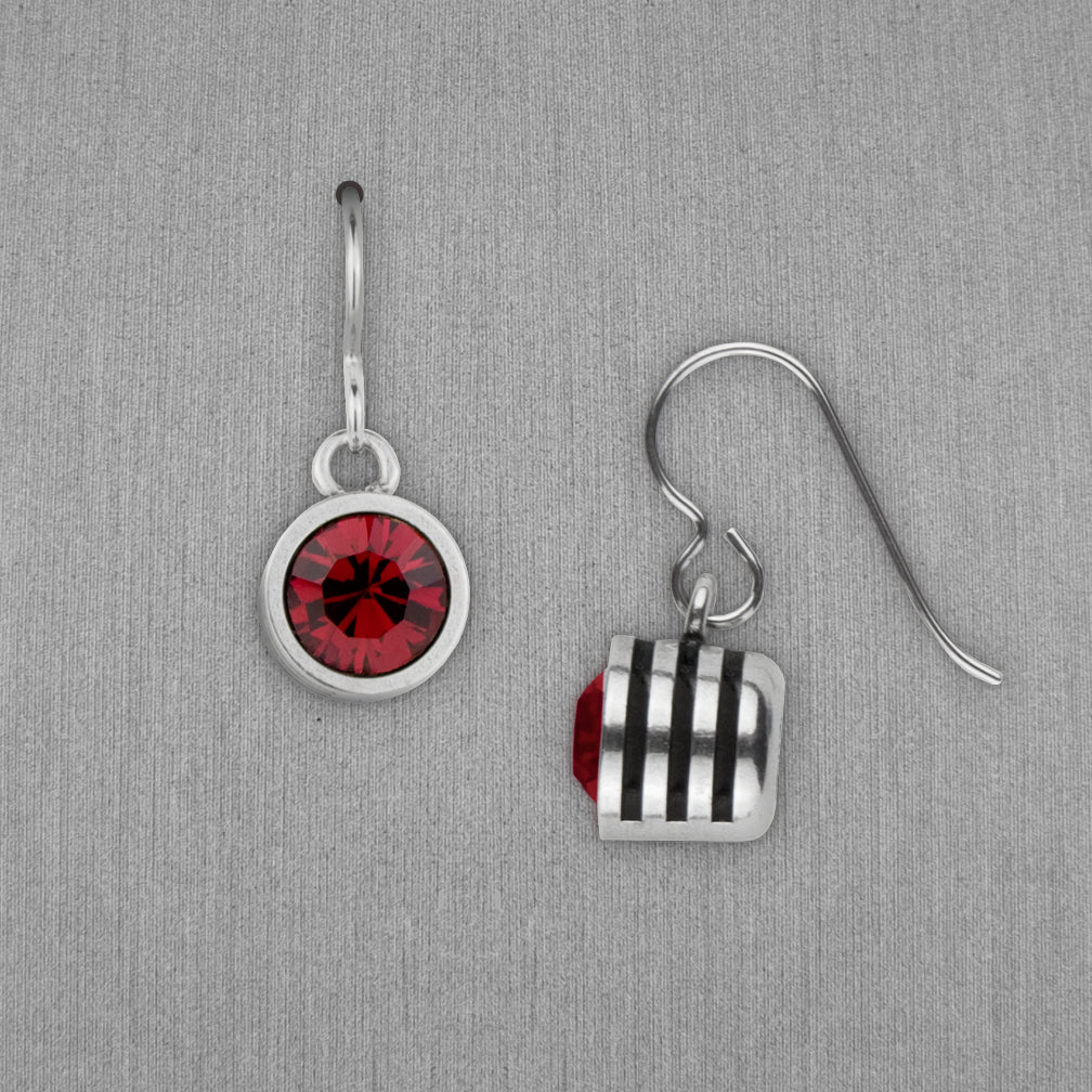 Patricia Locke Jewelry: Slotted Earrings in Ruby