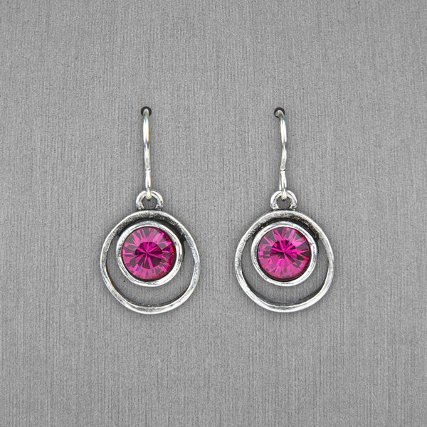 Patricia Locke Jewelry: Skeeball Earrings in Fuchsia