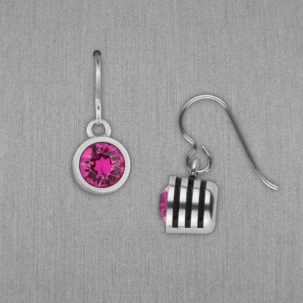 Patricia Locke Jewelry: Slotted Earrings in Fuchsia