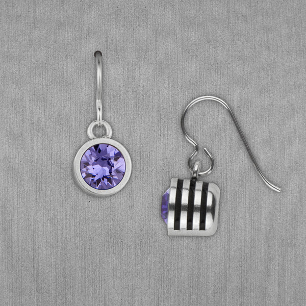 Patricia Locke Jewelry: Slotted Earrings in Tanzanite