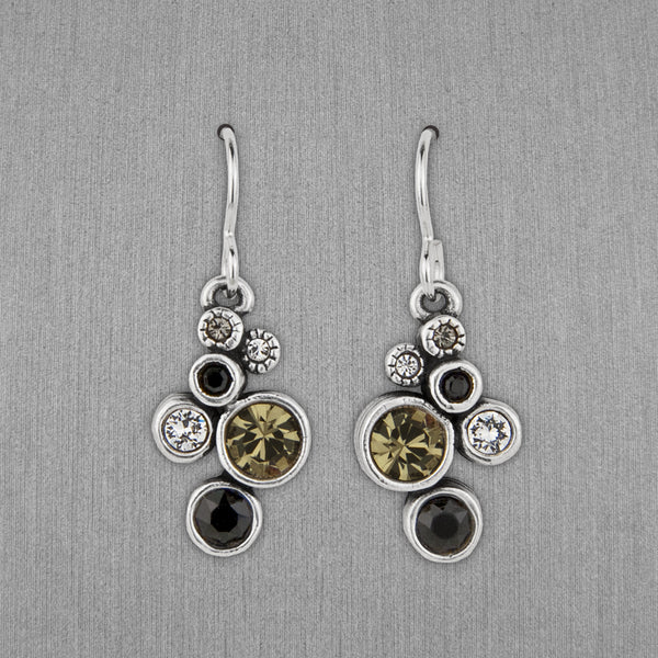 Patricia Locke Jewelry: Splash Earrings in Black & White
