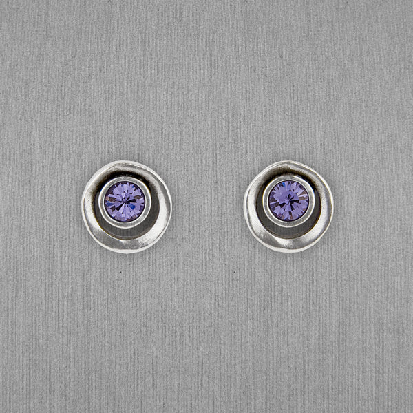 Patricia Locke Jewelry: Eye Spy Post Earrings in Tanzanite