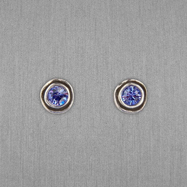 Patricia Locke Jewelry: On The Dot Earrings in Tanzanite