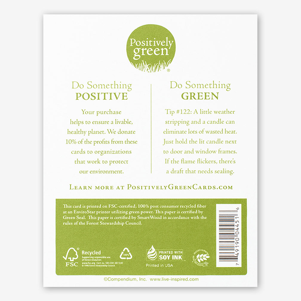 "Positively Green Cards: ""How do I love thee? Let me count the ways."" —Elizabeth Barrett Browning"