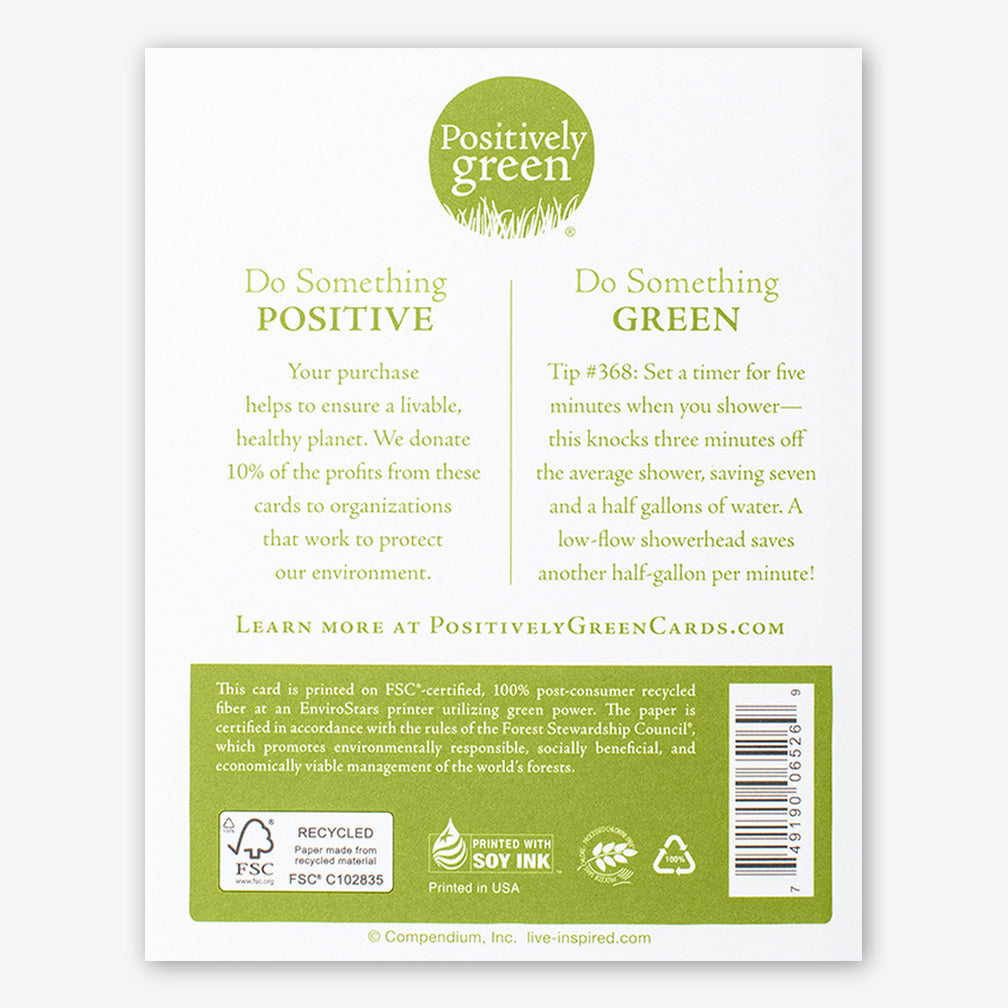 "Positively Green Cards: ""All good things are wild and free."" —Henry David Thoreau"