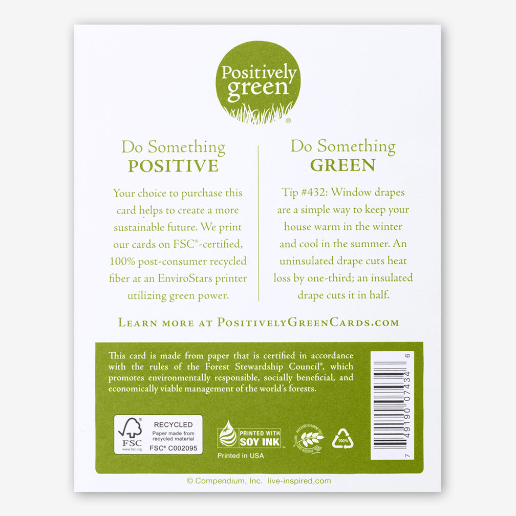 "Positively Green Cards: ""There will be many loving thoughts hovering around you like angels today."" —Unknown"