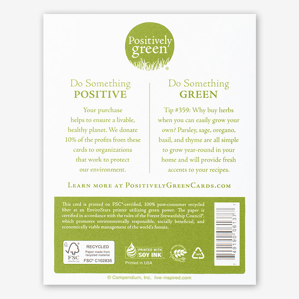 "Positively Green Cards: ""Healing is a matter of time..."" —Hippocrates"