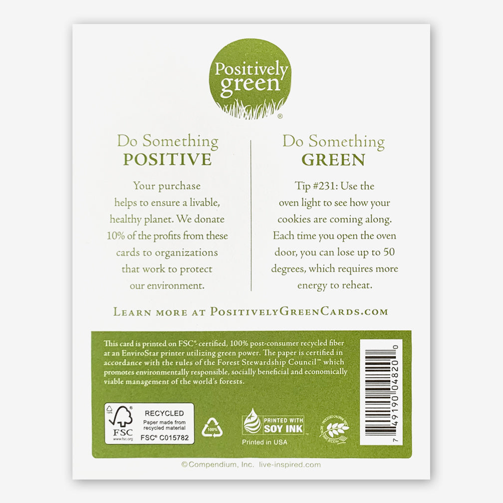 "Positively Green Cards: ""Love is, above all, the gift of oneself."" —Jean Anouilh"