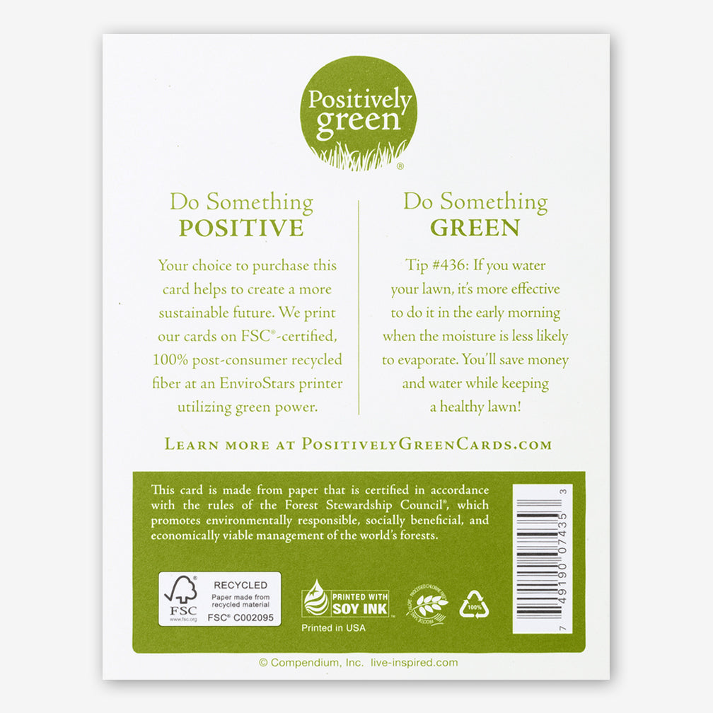 "Positively Green Cards: ""What a difference one person can make!"" —Unknown"