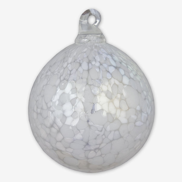 Ron Hinkle Glass: Round Glass Ornaments: December Snow