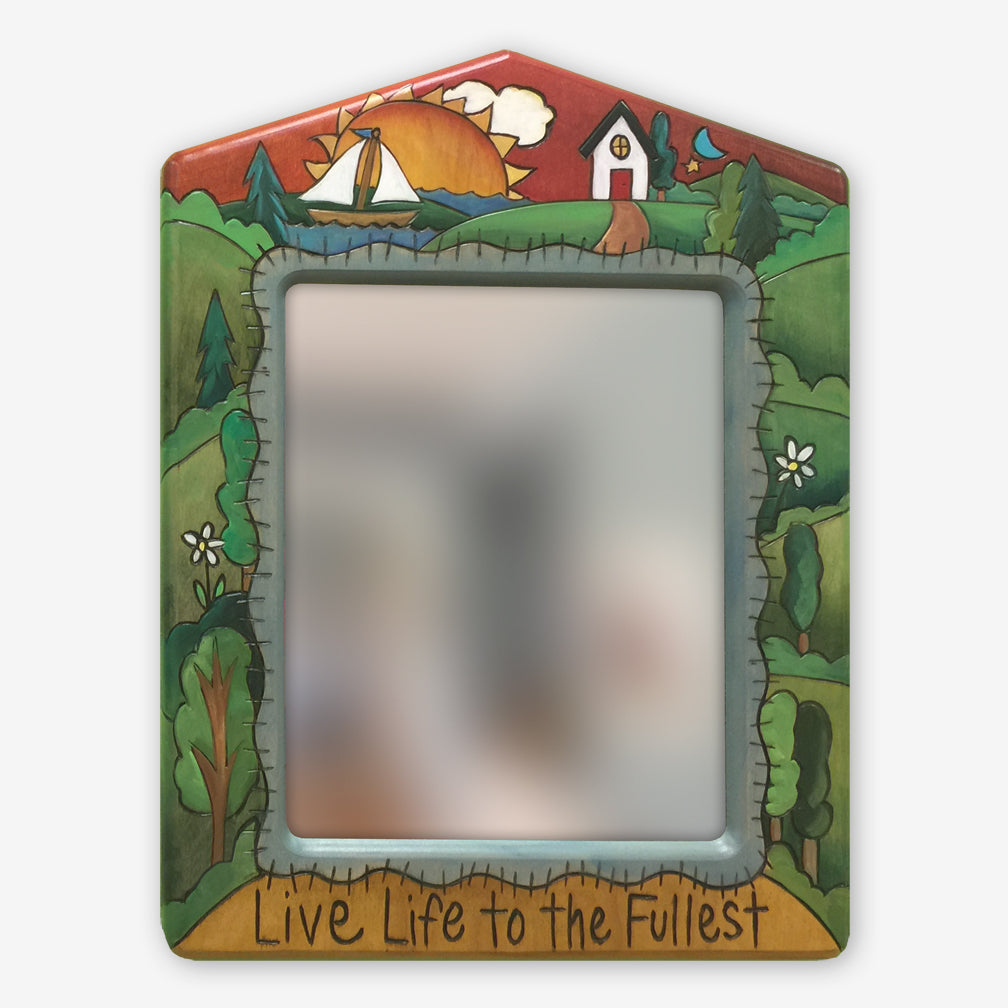 Sticks: 12x16 Rectangular Mirror: Live Life to the Fullest