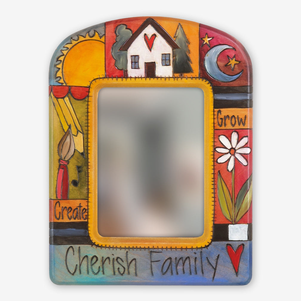 Sticks: 9x12 Rectangular Mirror: Cherish Family
