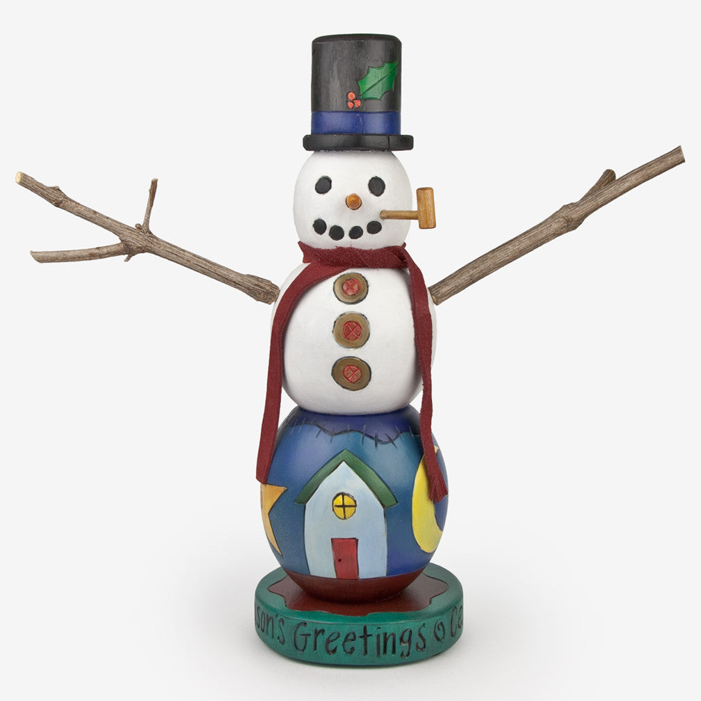 Sticks: Season's Greetings Snowman