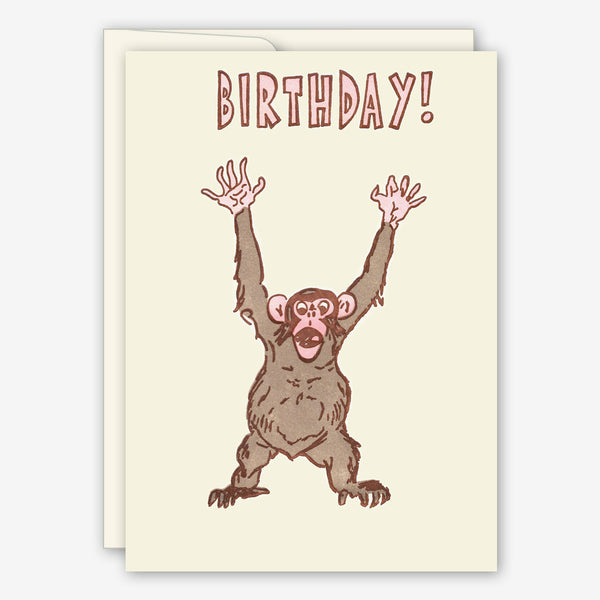 Saturn Press Birthday Card: Agape Ape