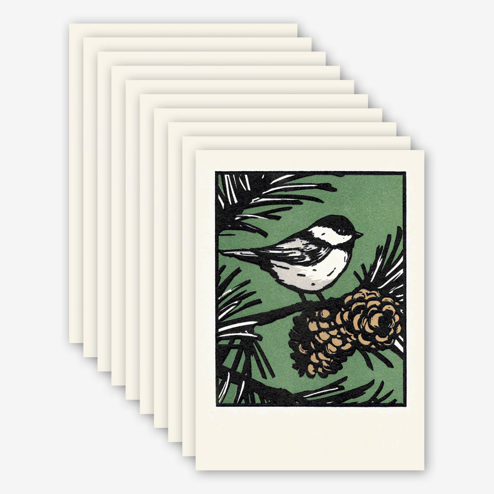Saturn Press Holiday Box of Cards: Black Capped