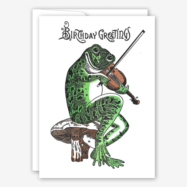 Saturn Press Birthday Card: Fiddler