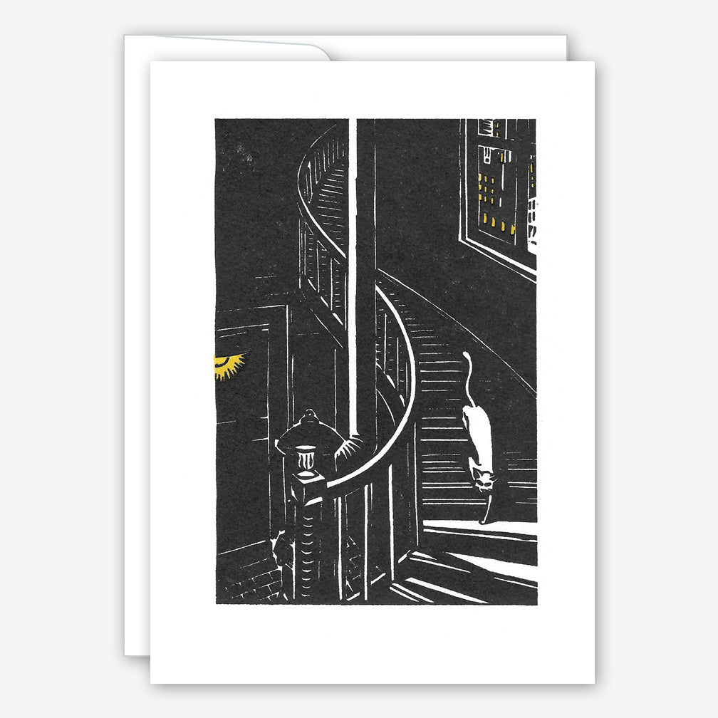 Saturn Press Everyday Card: Cat on Stairs