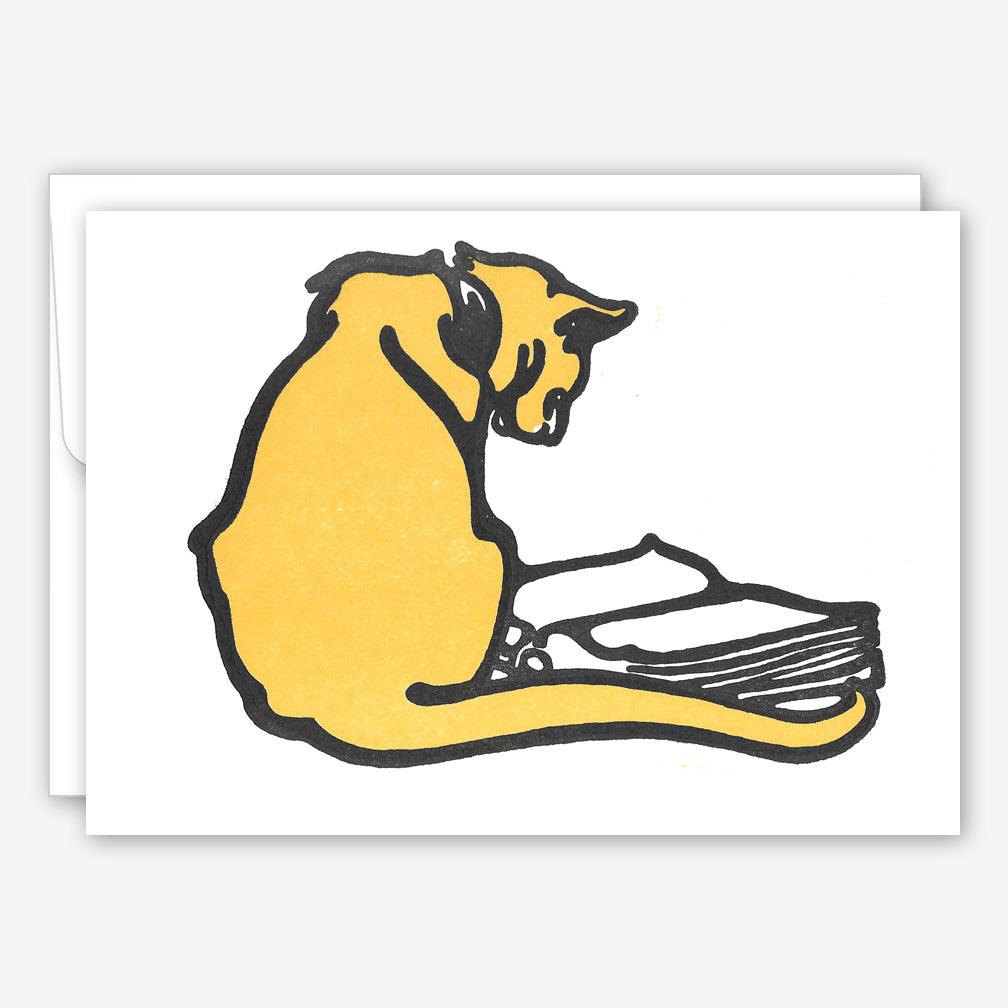 Saturn Press Everyday Card: Yellow Cat