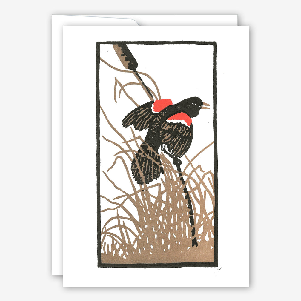 Saturn Press Everyday Card: Red Wing Blackbird