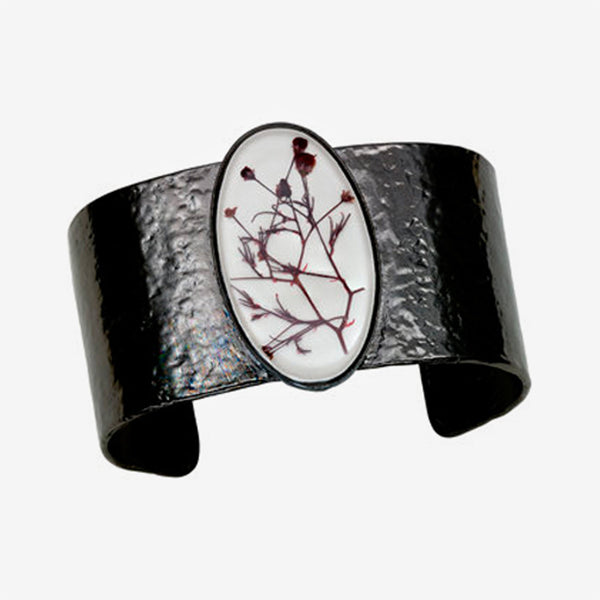 Shari Dixon: Cuff: Smoketree White Large Oval