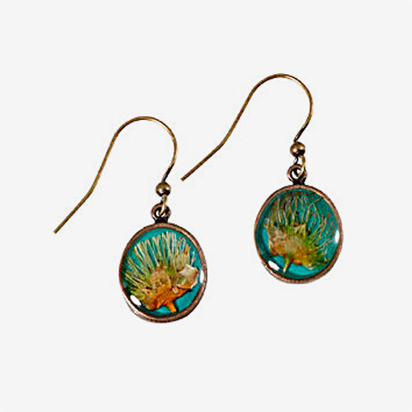 Shari Dixon: Earrings: Apache Plume Round
