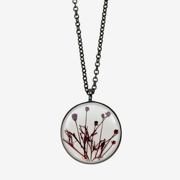 Shari Dixon: Necklace: Smoketree White Medium Round