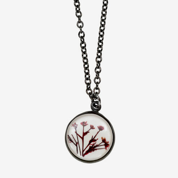 Shari Dixon: Necklace: Smoketree White Small Round