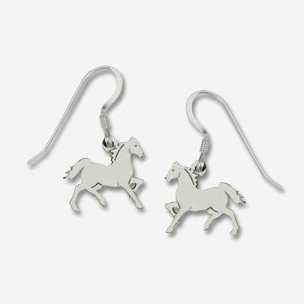 Sienna Sky Earrings: Prancing Polished Horse