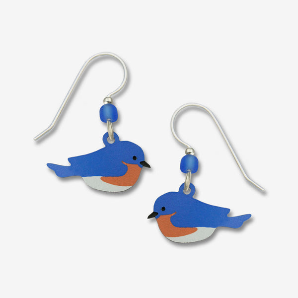 Sienna Sky Earrings: Eastern Bluebird