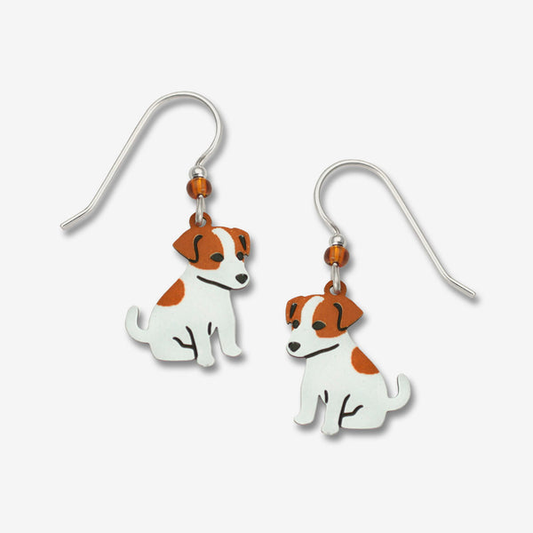 Sienna Sky Earrings: Jack Russell Terrier