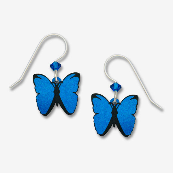 Sienna Sky Earrings: Blue Morpho Butterfly