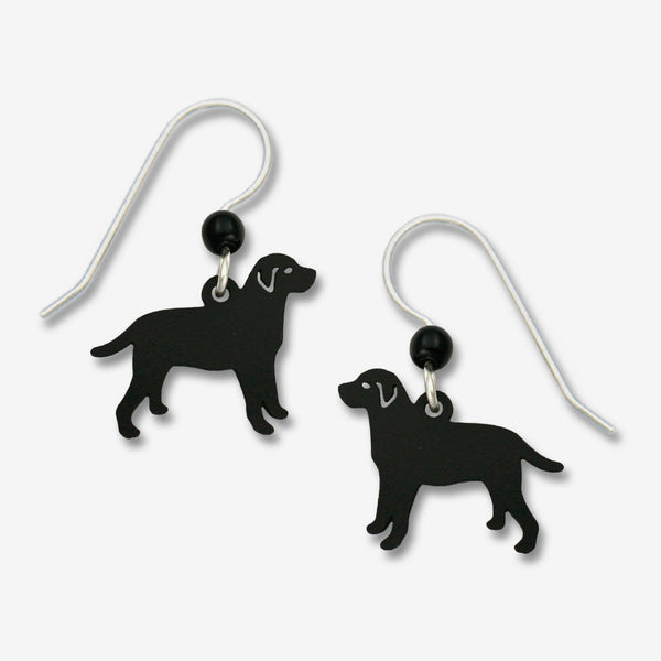 Sienna Sky Earrings: Black Labrador