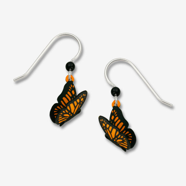 Sienna Sky Earrings: 3-D Monarch Butterfly