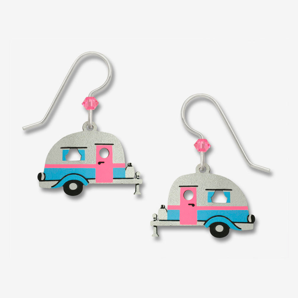Sienna Sky Earrings: Road Trip! Retro Travel Trailer