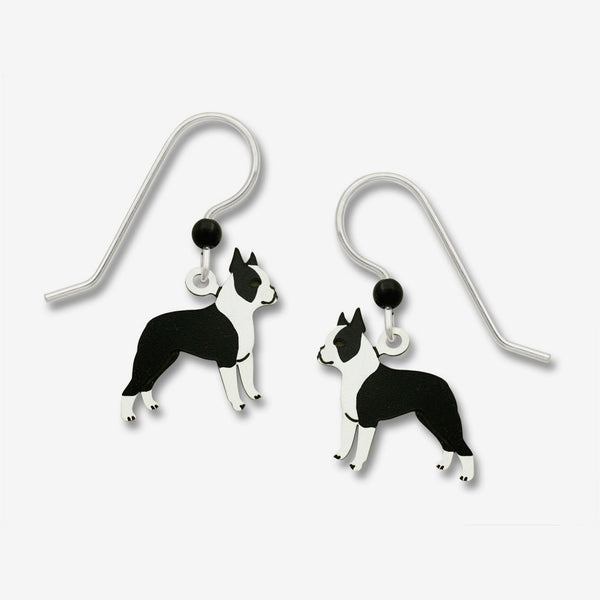 Sienna Sky Earrings: Boston Terrier