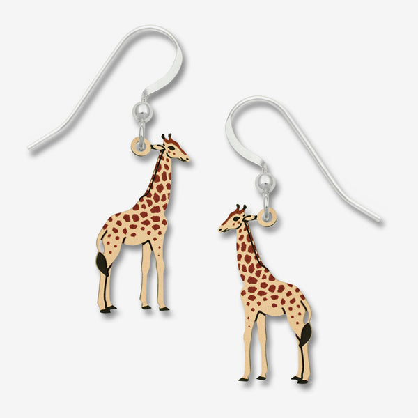 Sienna Sky Earrings: Painted Giraffe