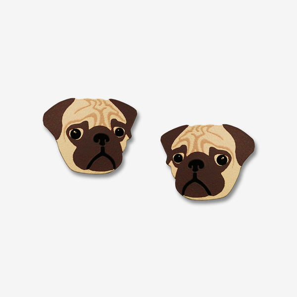 Sienna Sky Post Earrings: Pug Face